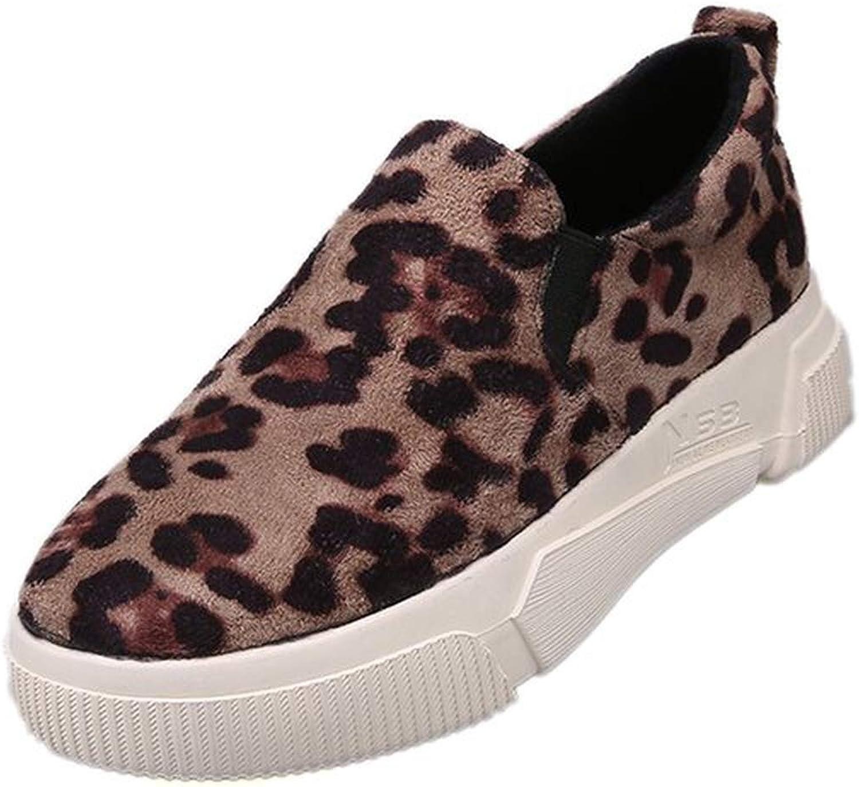Leopard Print Women Casual shoes Round Toe Women Flat shoes Loafers Women Sneakers shoes F630
