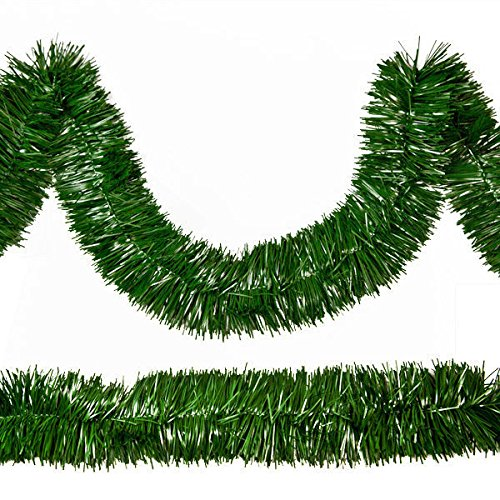 Rocky Mountain Goods Christmas Garland - 18 Feet of Thick Pine Decorating Garland for Trees, mantels - Made in USA - Green unlit Garland - Flame/Tarnish Resistant