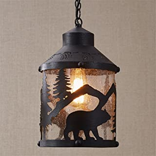 Park Designs Black Bear 8.5 Inches x 8.5 Inches x 14.5 Inches Iron Pendant Light