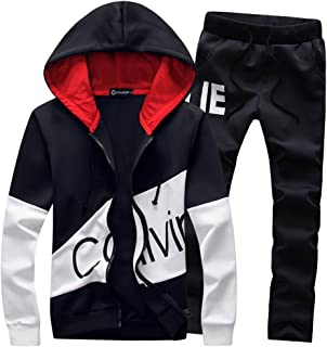 Manluo Hoodies Sports Suits Print Slim Fit Young Track Suit Outwear Jogging
