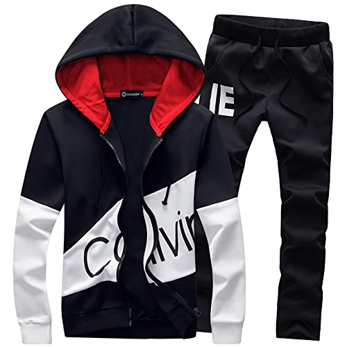 f1f7f3463ee Manluo Men s Hoodies Sporting Suit Slim Fit Track Suit Polo Casual Outwear  Suits Cardigan