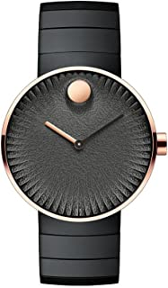 Movado Edge Black Dial Stainless Steel Ladies Watch 3680026
