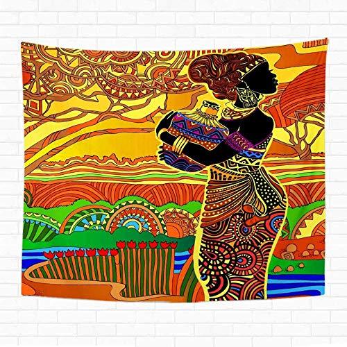 QIAO Tapiz Colgante de Pared Tri¨¢ngulo Azul Navajo Azteca Patr¨n Grande Colorido Geom¨¦trico Nativo Tapices de decoraci¨n del hogar Manta de Pared para Dormitorio Sala