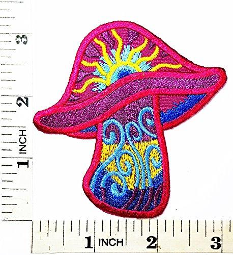 Magic Mushroom seal de smbolo de la Paz Logo Hippie Retro chaqueta camiseta parche coser hierro en bordados placa disfraz