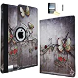 JYtrend iPad Mini 4 Case, (R) Rotating Stand Smart Case Cover Magnetic Auto Wake Up/Sleep for iPad Mini 4 4th A1538 A1550 MK6K2LL/A MK6L2LL/A MK872LL/A MK882LL/A MK9P2LL/A MK9Q2LL/A (Butterfly)