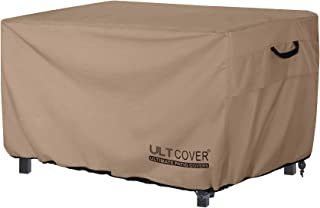 ULTCOVER Rectangular Gas Fire Pit Table Cover 44x32 inch Waterproof Heavy Duty Firepit Cover
