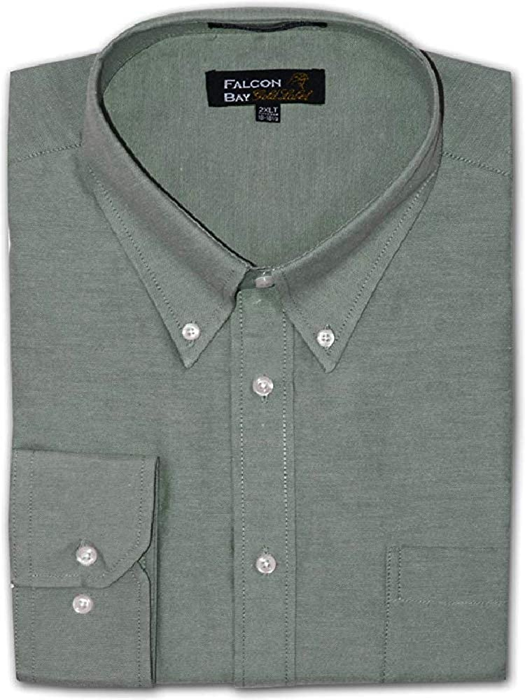 Big and Tall Luxury Cotton Rich Oxford Casual Dress Shirts to Size 8X