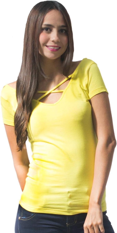 BOCARED Women's Short Sleeve, V Neck Viscose BFashion Lima