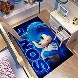 GOOCO Sonic The Hedgehog -Alfombra Home Room Wild Floor Decoration Floor Mat Rectangular Anime Cartoon Sonic Game Mat Habitación De Los Niños Sala De Estar Dormitorio Alfombra
