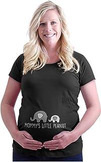 Womens Maternity Mommy's Little Peanut Cute Elephant T Shirt Tee