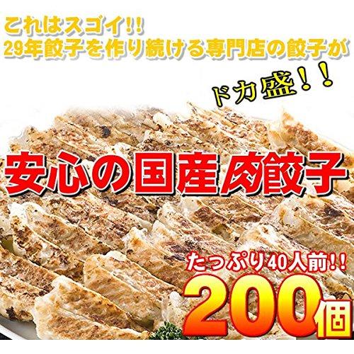 【ワケあり】安心の国産餃子200個!!40人前!! ds-1048769