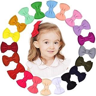 20 قطعة من مشابك الشعر للبنات الرضعات مقاس 4.5 بوصة مشابك الشعر إكسسوارات الشعر للأطفال حديثي الولادة والرضع والأطفال المدارس