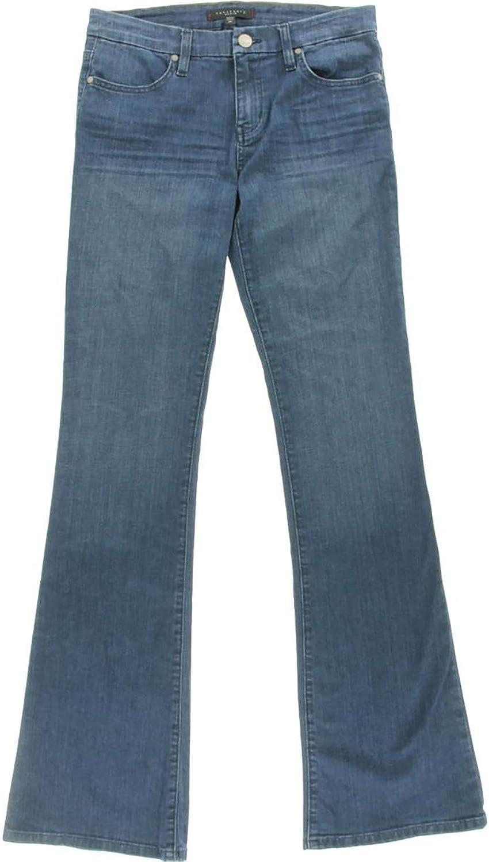 Sanctuary Womens Alexa MidRise Medium Wash Flare Jeans bluee 25