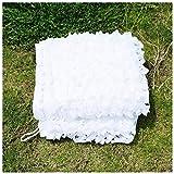 YINUO Red de sombrilla de color blanco, de 5 x 3 m de camuflaje para niños, malla de refuerzo para decoración de jardín, ejército, militar, caza, campamento de tiro, campamento de campamento, al aire libre, ocultar el coche cubierto