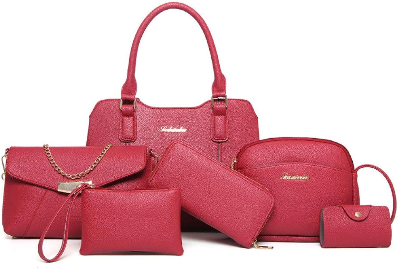 Ailihan Handtasche Damentasche Pakete Schulter schräge Tasche Big-Bag Handtasche 6 teiliges Set B07L9YD6MR  Elegante und robuste Verpackung