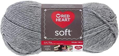 Red Heart Yarn Light Grey Heather Red Heart Soft Yarn (9940)
