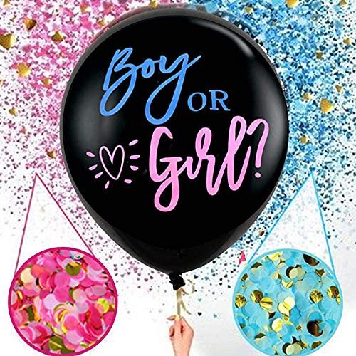 Baby Shower Boy or Girl Palloncini Reveal di Genere con Coriandoli, Gender Reveal Palloncino,Gender Reveal Party Decorazione,Palloncino per Annunciare Il Sesso Del Ragazzo o Ragazza