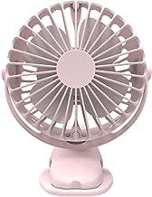 Draagbare koeling mini USB-ventilator 4 snelheden 360 graden rotatie oplaadbare desktop clip ventilator 4000 mAh (kleur: r...