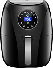 Habor Air Fryer, 4 Quart Hot Air Fryers Oven w/Programmable 7 Cook Presets for Air Frying, Roasting, Baking & Broiling, 1400W Air Cooker w/LED Touch Screen, Non-Stick Frying Pot