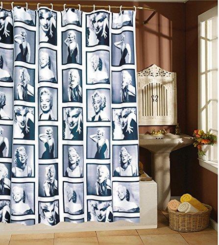 182.88 cm, Marilyn Monroe, Wasserdichter Duschvorhang aus Stoff, mit Haken