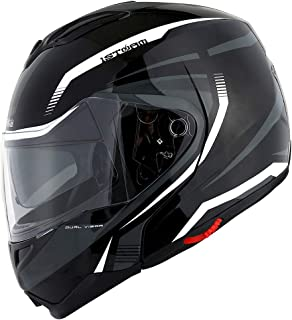 1Storm Motorcycle Street Bike Modular/Flip up Dual Visor/Sun Shield Full Face Helmet..