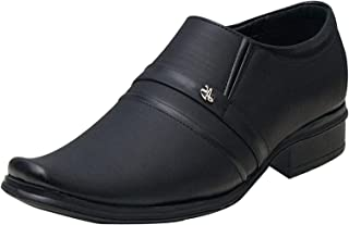 Primo Cleats Men's Synthetic Leather Casual Office Use Formal Shoes for Mens and Boys Slip On for Men Slip On for Men (Black)