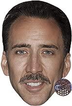 Celebrity Cutouts Nicolas Cage (Moustache) Big Head. Larger Than Life mask.