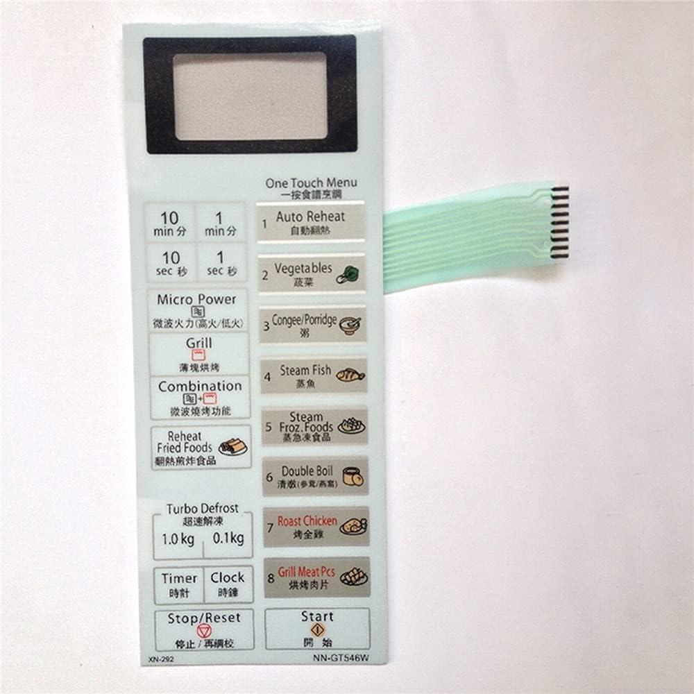 Repuestos de cocina Botón táctil del interruptor de membrana del horno de microondas 205MM 80MM para piezas de reparación del panel del horno de microondas Panasonic NN-GT546W