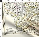Deutschland, 19. Jahrhundert, Landkarte, Vintage Landkarte,