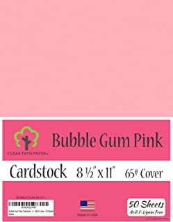 Bubble Gum Pink Cardstock - 8.5 x 11 inch - 65Lb Cover - 50 Sheets