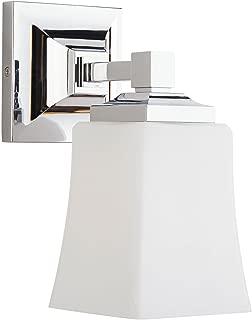 Brighton 1 Light Bathroom Vanity Fixture Chrome w/Frosted Glass Linea di Liara LL-WL240-1-PC