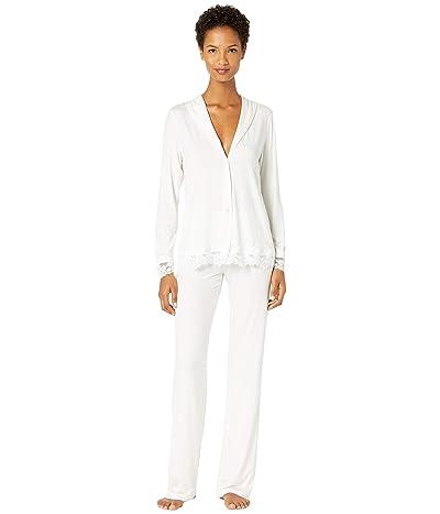 La Perla Tres Souple Long Pajamas (White) Women