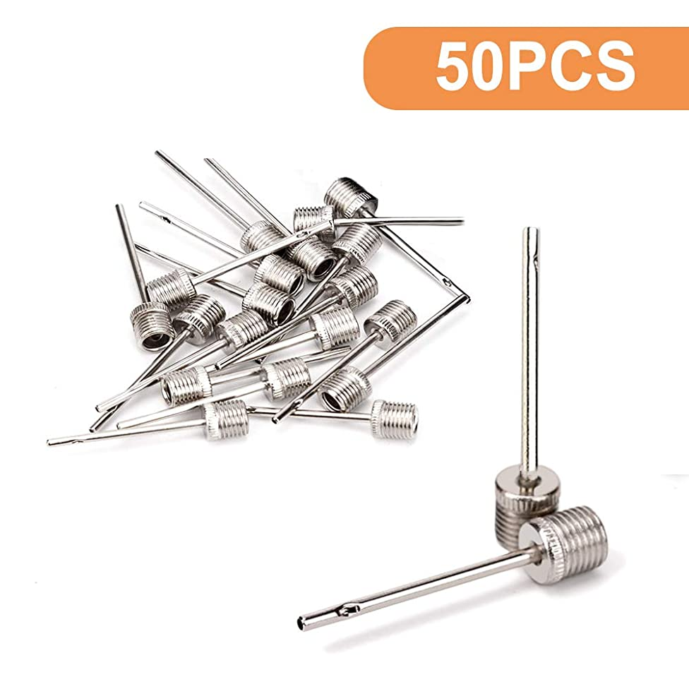 Vkermury 50 PCS Ball Inflation Needle,Stainless Steel Inflator Air Needle for Any Football/Volleyball/Basketball/Soccer Bal/ Rugby Balls,US Standard Replacement Needles k52071579831376
