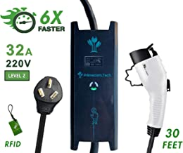 PRIMECOM 30 Feet Level 2 Electric Vehicle (EV) Charger (220/240V, 32Amp/40Amp) 32 and 40 Amp 6-50P. 10-50P & 14-50P (10-50P, 32 Amp) for Tesla
