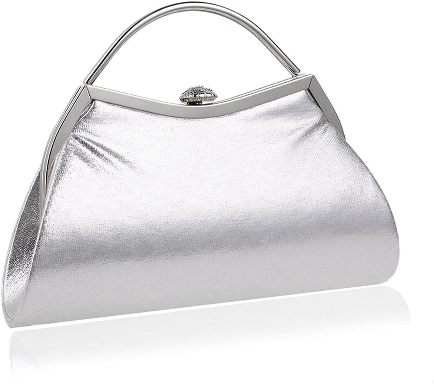 LBY Fashion Candy color Mobile Bag Luxury Party Star Evening Clutch Nightclub Dinner Bag Evening Package (color   Silver)