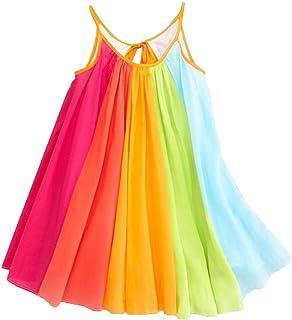 912b52b5a36 Robe de Fille - Eté Enfant en Bas Âge Enfants Bébé Fille Princesse  Vêtements sans Manches