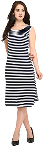 Fashion Women S A Line Knee Long Dress Middy For Women And Girls Pack Of 1 Black White