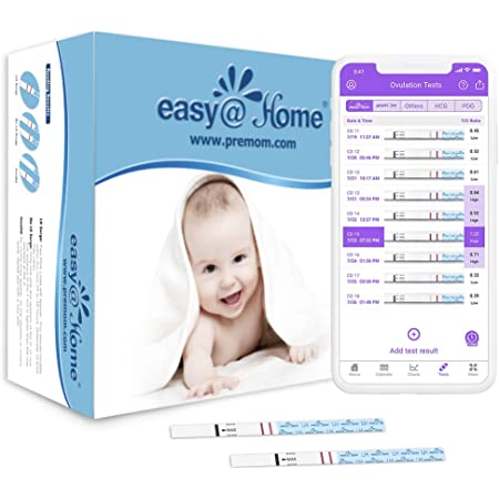 Easy@Home Ovulation Test Predictor Kit : Accurate Fertility Test for Women (Width of 5mm), Fertility Monitor Test Strips, 50 LH Strips