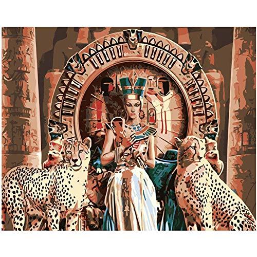 mlpnko Cleopatra Malerei DIY Zeichnung Acrylölgemälde für Hochzeitsdekoration 40X50cm Rahmenlos