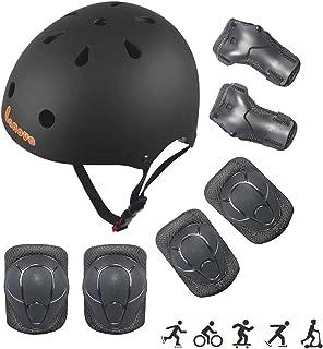 LANOVAGEAR Toddler Helmet Knee Elbow Pads and Wrist Guards Adjustable CPSC Kids Bike Helmet for Cycling Skateboard Rollerblading Scooter