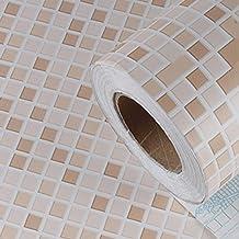 المطبخ جدار النفط واقية ملصقات الحمام للماء الجدار ملصق ذاتية اللصق الحمام خلفيات ارتفاع درجة الحرارة المقاومة(Size:60cm*2...
