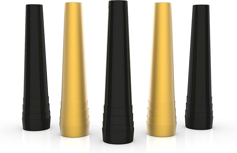 Boquilla higiénica para cachimba Veira Premium – para pipa de agua, longitud 59 mm, color negro y dorado, boquillas Veira desechables coloridas, boquillas higiénicas Hookah Mouth Tips (50)