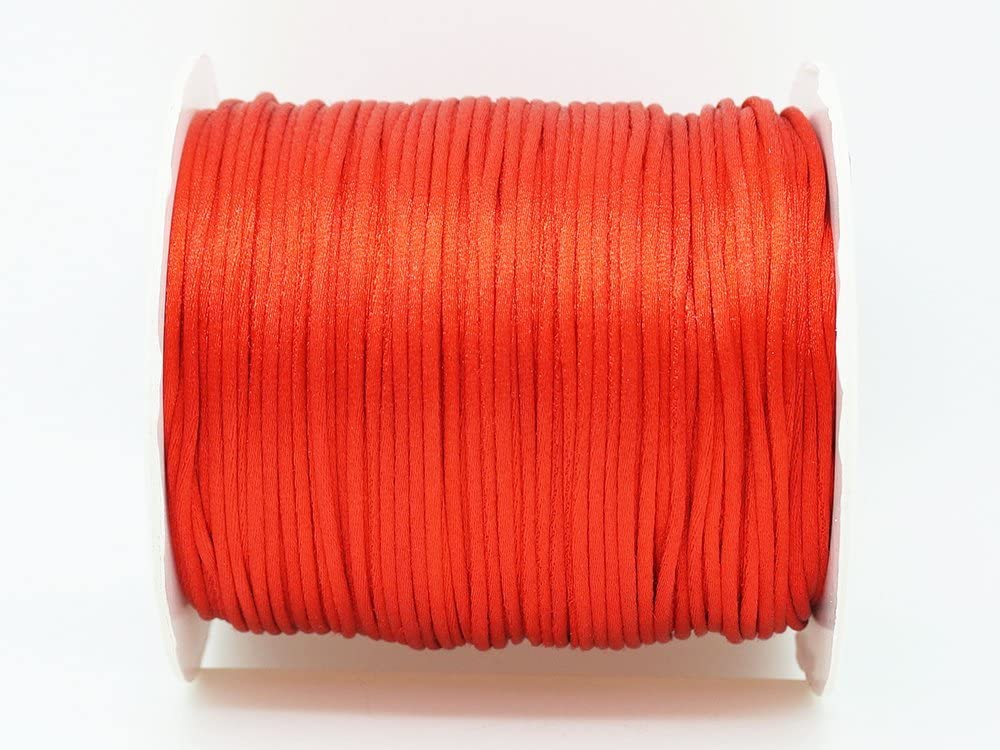 RED 1mm Bugtail Satin Cord Kumih Popular popular Beading Max 44% OFF Shamballa Macrame Nylon