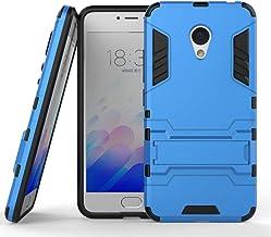 Sangrl Funda para Meizu Note 3/Meizu M3 Note, Robusto y Durable Bumper Híbrida Resistente 2 en 1 Armadura Protectora Armadura Arañazos Cover Anti Caída Case - Azul