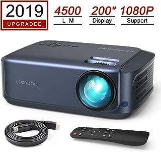 OKCOO Video Projector, Full HD 1080P 4500lm 200