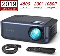 OKCOO Video Projector, Full HD 1080P 4500lm 200