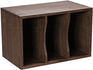 Gabinete de almacenamiento de discos de vinilo LP, caja de almacenamiento apilable de madera Home SP Caja de almacenamient...