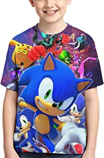 Boy's Sonic The Hedgehog T-Shirt Kids Boys Girls T Shirts Novelty 3D Printed Top Tee Shirts