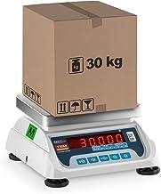 TEM Balance Poids-Prix Commerce Marché TEKO+LED30T-PLS-B1 (Calibrée, 15 kg/30 kg, 5g/10 g, Écran LED, Batterie Jusqu'à 40...