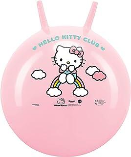 John- Hello Kitty - Pelota saltadora para niña, Color Rosa (59523)